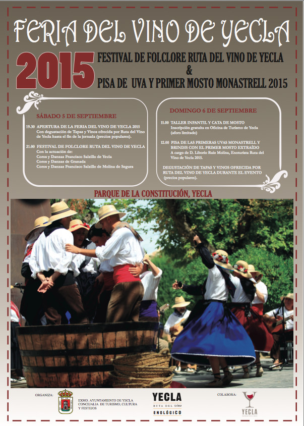 Yecla wine fair poster, 2015