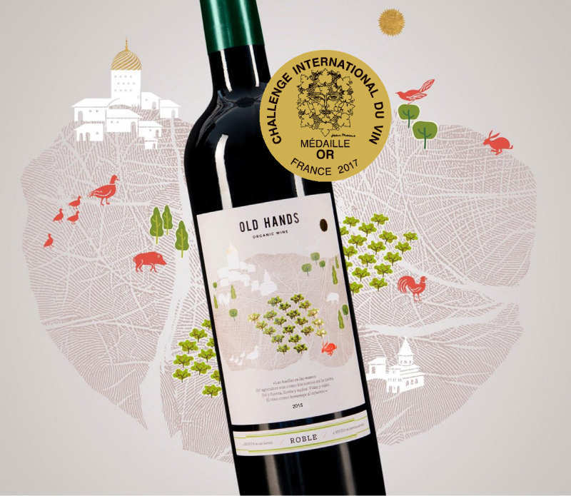 Old Hands roble 2015, ha logrado la medalla de oro en el Challenge International du Vin