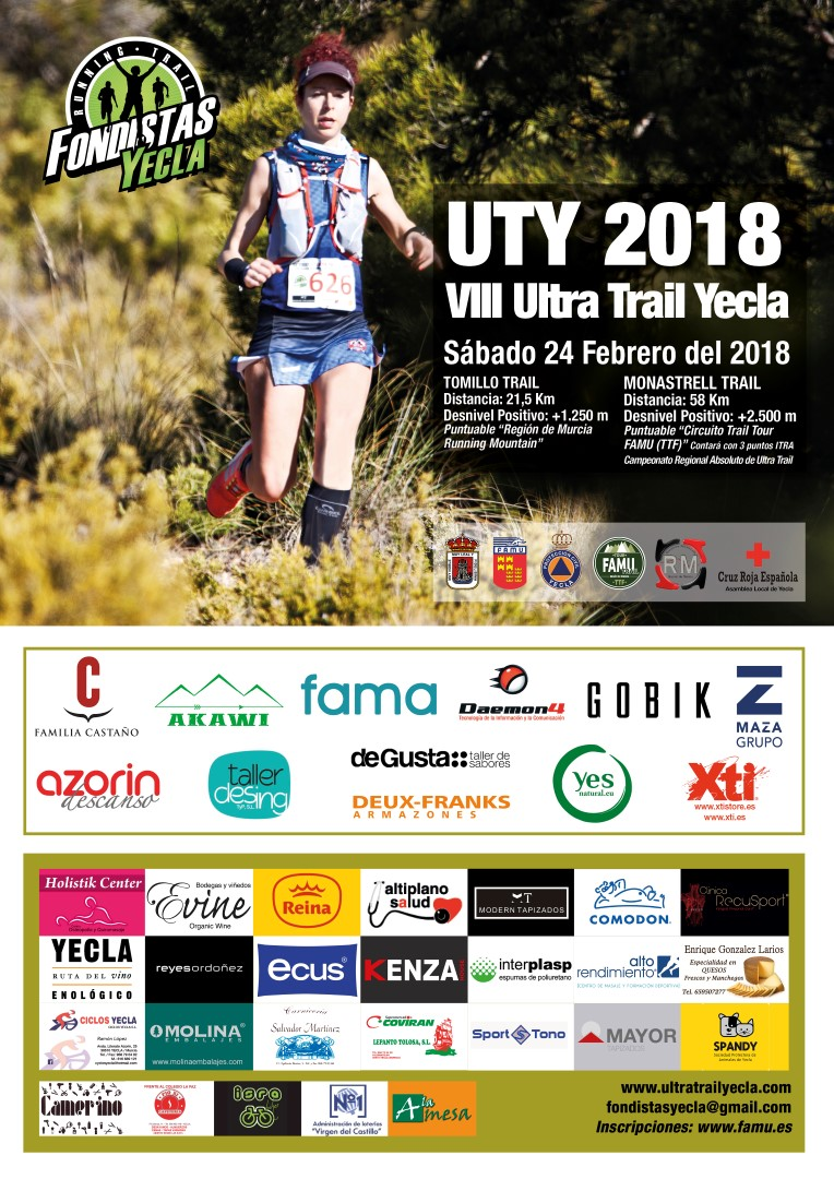 Cartel de VIII Ultra Train Yecla 2018