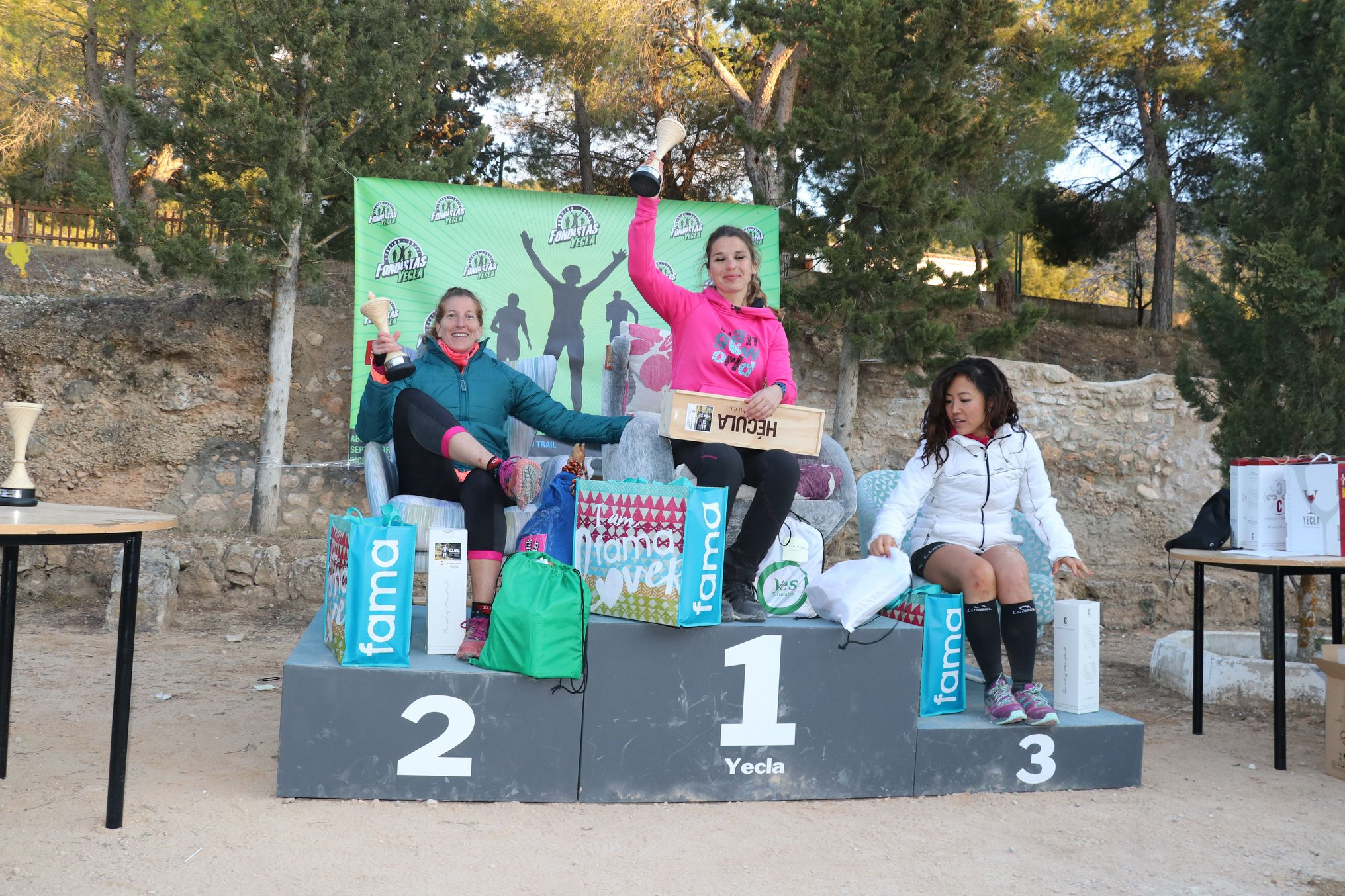 Ultra Trail. Podium femenino