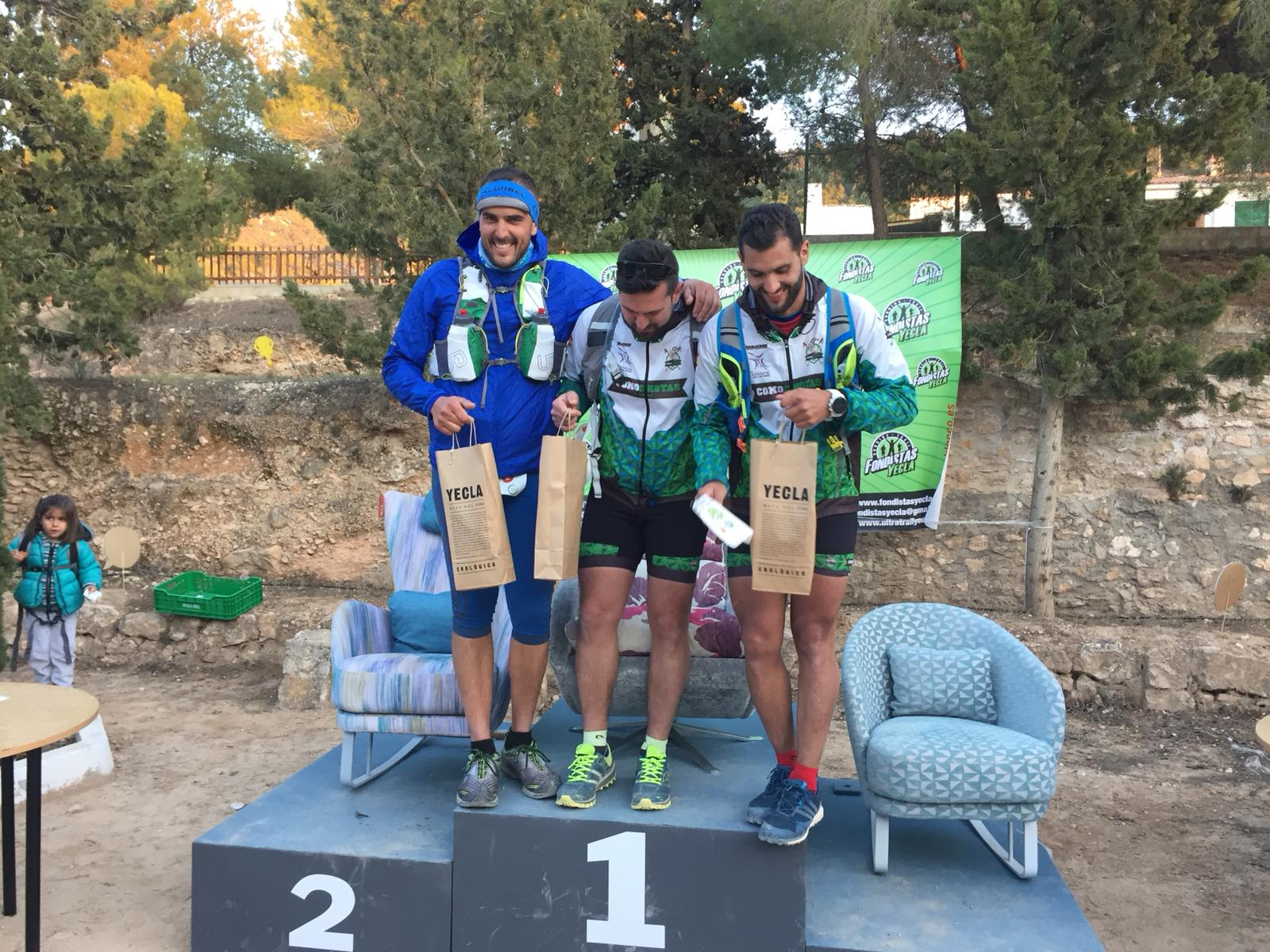 Ultra Trail Yecla. Podium masculino