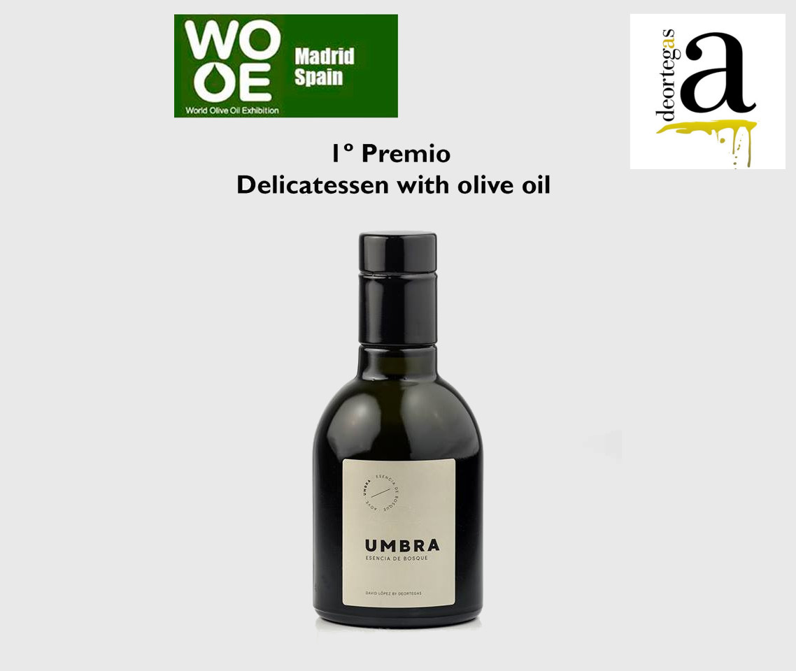 UMBRA esencia de bosque 1º PREMIO EN LA WORLD OLIVE OIL EXIBITION