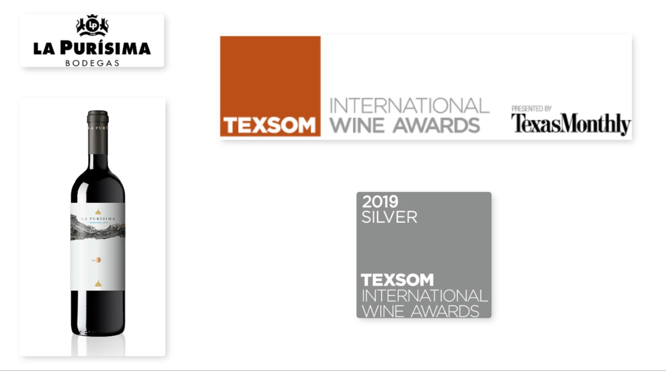 La Purisima Monastrell medalla de plata en Texsom International wine Awards 2019