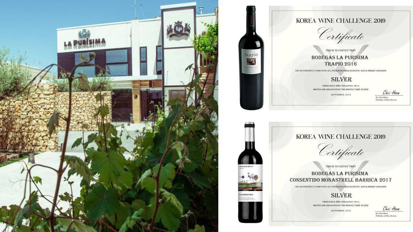 Trapío and Consentido Monastrell Barrica awarded at Korea Wine Challenge 2019