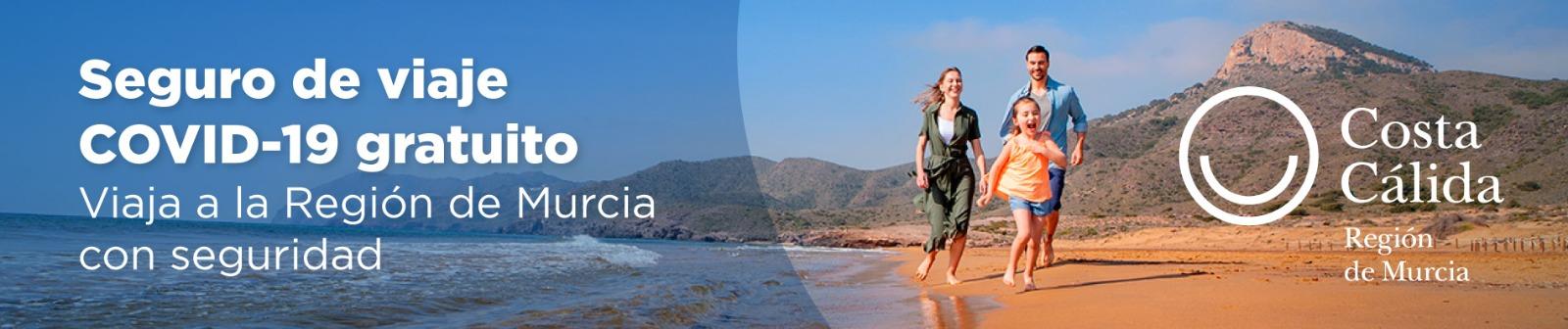 Seguro de viaje gratuito para turistas en la Región de Murcia para COVID-19