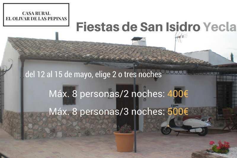Casa Rural el Olivar de las Pepinas. Oferta San Isidro