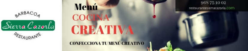 Menu creativo en octubre en Restaurante Sierra Cazorla