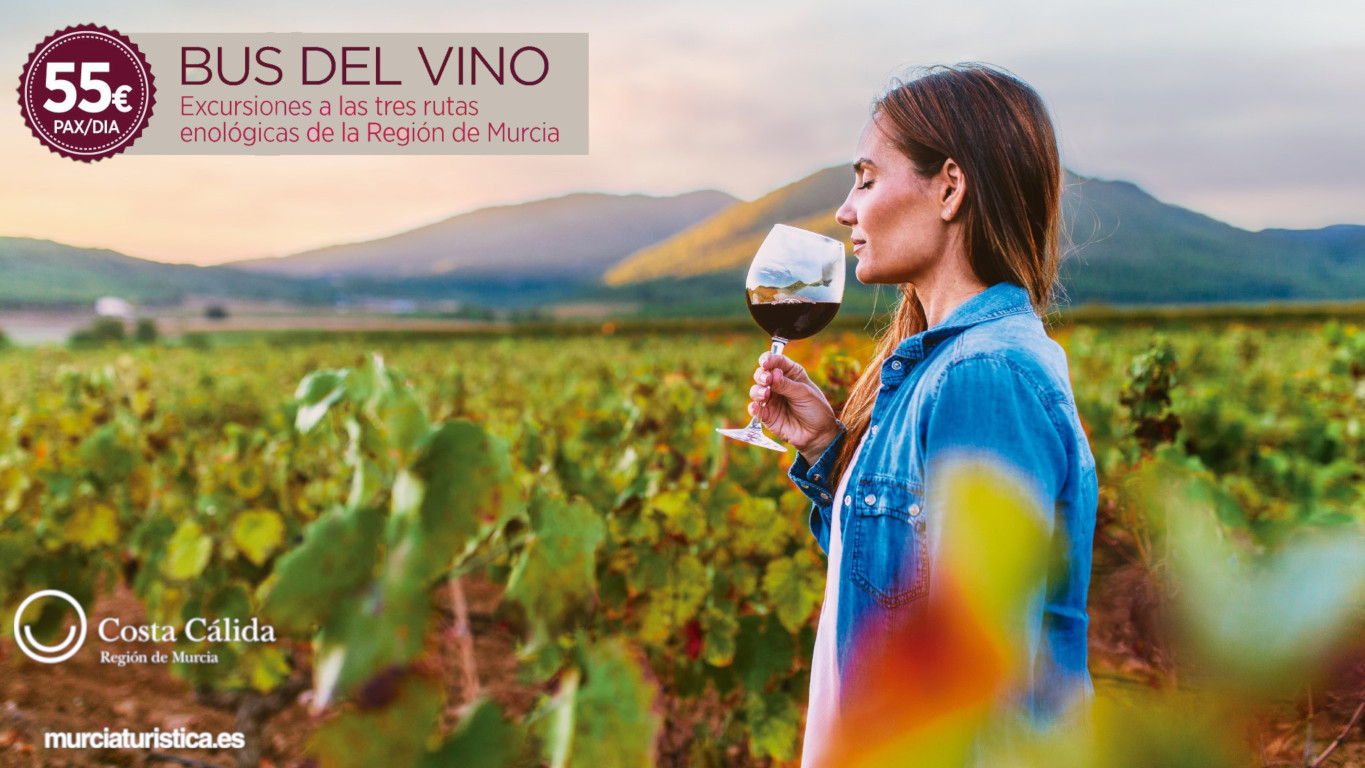 The Wine Bus arrives in the Region of Murcia